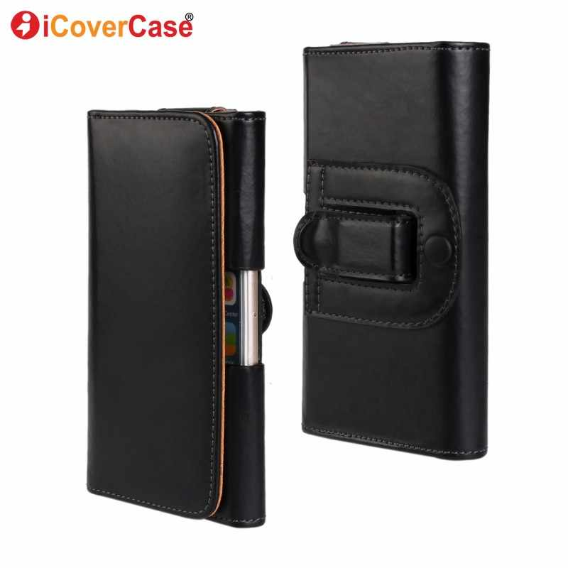 Voor Huawei P20/P20 Lite/P20 Pro Riem Clip Case Cover Leather Pouch Tas Huwei P20 Lite Universal mannen Taille Holster Coque Capa