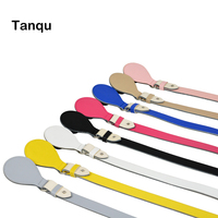 New Obag Long Short Flat Handles Faux PU Leather Lacquer Handles Removable Drop End For O