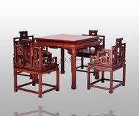 Китай классический набор мебели палисандр кресло Аннато квадратный столик для Обеденная применимость стол из массива дерева обеспечивает