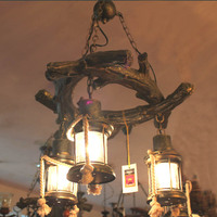 Античная Личность American retro Лофт pendanr лампа Веревка Чистая yoga магазин одежды кафе бар рассеянный свет подвесные светильники GY282