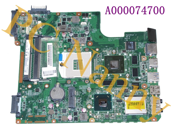 A000074700 for Toshiba L700 Laptop Motherboard DATE5DMB8F0 31TE5MB00L0 HM65 N12P-LP-A1 Tested