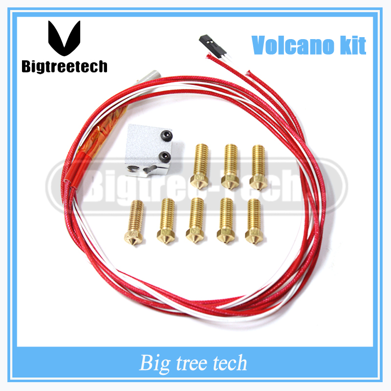 3D printer parts 3D Volcano hot end eruption pack kit /set heater block + nozzle pack for 1.75/3 mm 3D Volcano ki