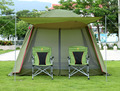 De alta calidad de doble capa ultralarge 4-8person fiesta familiar gardon camping playa carpa gazebo dom refugio