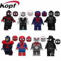 Legoings starwars minifiguré Marvel Avengers Spiderman ultime Spider-Man Noir Gwenom blocs de construction modèle jouets pour enfants