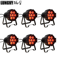 Free Shipping 6pcs/Lot Mini 7x10w RGBW 4in1 LED Par Light Disco Dj DMX Stage Effect Projector
