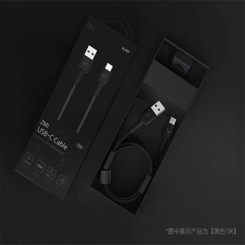 Оригинальный zmi usb type c кабель 30 см 3A Быстрая зарядка для samsung huawei Xiaomi OnePlus usb c зарядный кабель короткий Магнитный светодиод 1 м