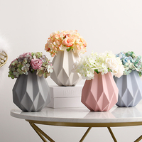 Europe Origami ceramic vase Macarons Dry flower small vases Creative Living Room wedding Tabletop Flower Arrangement vase