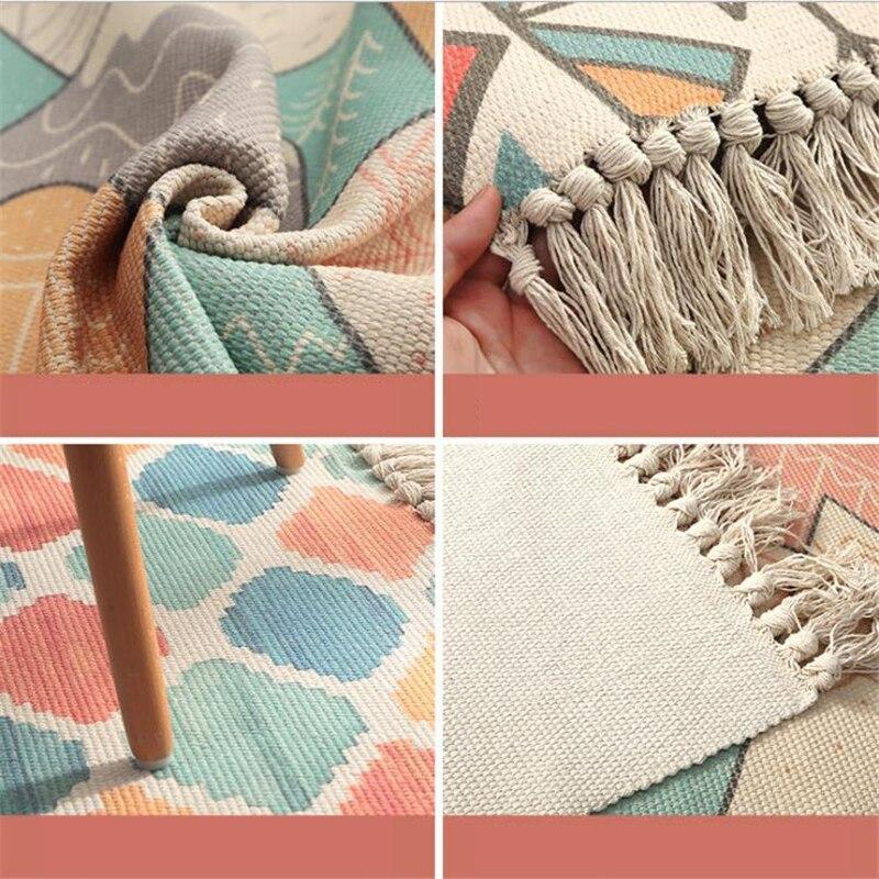 Tapis doux de chambre à coucher de coton délicat pour le salon tapis de Table de chambre d'enfant tapis de maison tapis de porte de plancher décorer tapis de zone de maison - 3