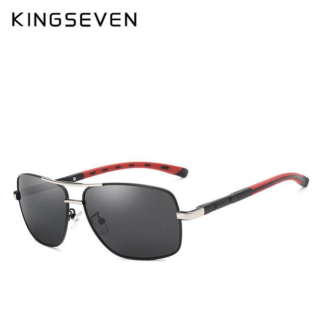 KINGSEVEN 2018 Brand Men Aluminum Sunglasses HD Polarized UV400 Mirror Male Sun Glasses Women For Men Oculos de sol N724