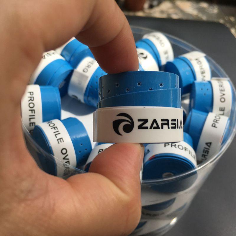 (Blue) 60 pcs ZARSIA Tacky feel tennis Overgrip, perforated Badminton Grip,tennis overgrip,Anti-skid sweatbands