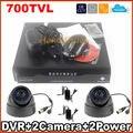 """4CH DVR Kit системы видеонаблюдения цветное изображение ик ночного видения 700TVL ик-cmos камеры видеонаблюдения комплект 1/4 """" CMOS сенсор камеры системы безопасности дома"""