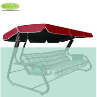 Canopy for garden swing 235x128cm,Multicolor solid oxford fabric,waterproofed PU coating fabric, Swing frame not included