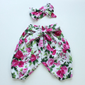 winter autumn summer baby girls harem pants baby pants pantalon pp pants matched headband boutique clothes sets for baby girls