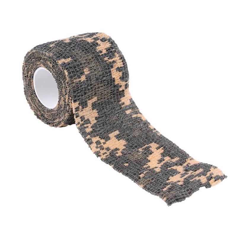 1 Roll Camo Tape Self-adhesive Non-woven Camouflage Wrap Rifle Gun Hunting Camo Stealth Tape EF