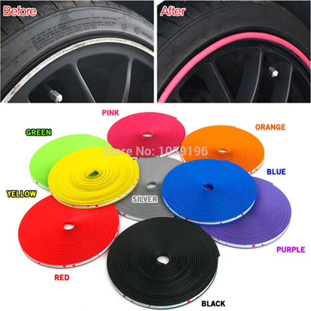 8M/ Lot New Car Styling Auto Accessories Car Wheel Rim Wheel Ring ...