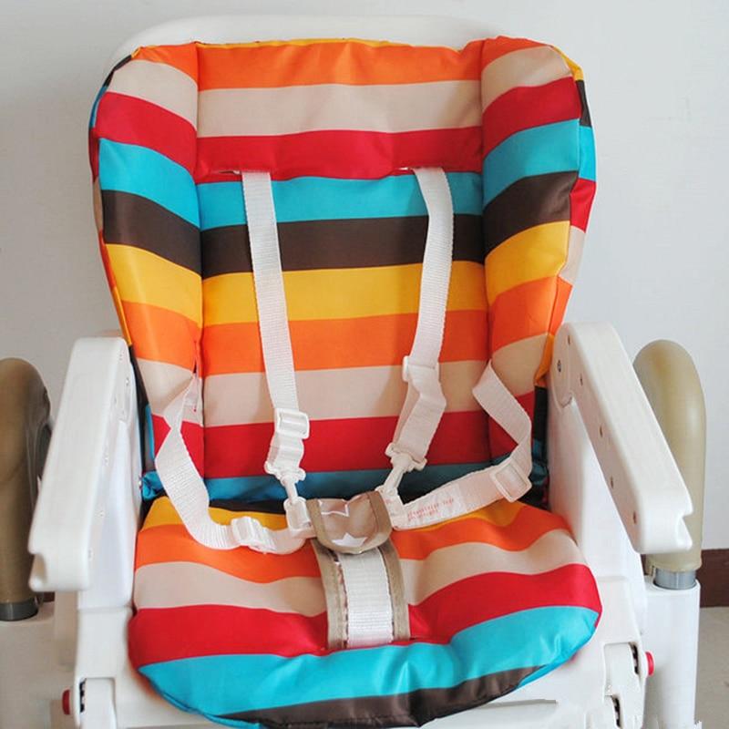 Baby Stroller Cushion Pushchair Rainbow Cotton Pad Soft Pram Highchair Seat Mat