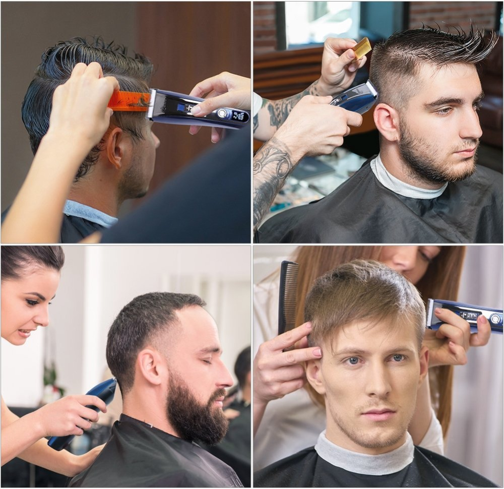 Image 2 - barber professional hair clipper electric hair trimmer beard trimer for men electric cutter hair cutting machine hair cut tool-in Hair Clippers from Home Appliances