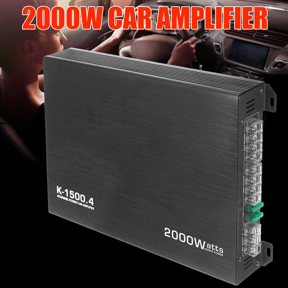 2000 واط 4 قناة سيارة مكبر للصوت المتكلم مركبة مكبر للصوت قوة ستيريو أمبير السيارات الصوت مكبر كهربائي مضخم الصوت للسيارة