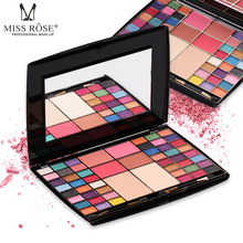 MISS ROSE 48 color eyeshadow tray 2 powder 4 blush makeup box eye shadow