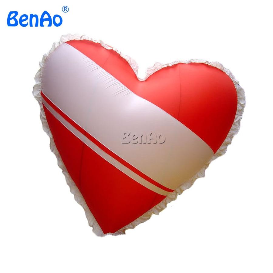 AO003 BENAO 0 18mm pvc 2 5m Heart Shaped Balloons Red Helium Balloon Inflatable Love Heart