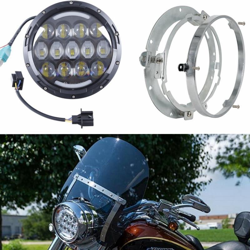 Здесь можно купить   DOT Approval 7 Inch 78w Led Headlight with 7 Inch LED Headlights Extension Ring Mounting Bracket for Wrangler Harley Headlamps Автомобили и Мотоциклы