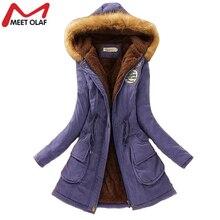 Winter Jacket Women Fashion Womens Fur Collar Coats Jackets For Lady Long Slim Down Cotton Parka Autumn Hooded Plus Size Parkas