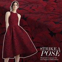 155cm Barley Leaf Jacquard Fabric Yarn dyed European Dress Blazer Jacquard Fabric patchwork fabric wholesale cloth
