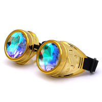 ef4123602 Round Gothic Gold Kaleidoscope Glasses Women Men Fashion Steampunk Goggles  Festival Party Colorful Sun Glasses Gafas. Rodada Óculos Mulheres Homens  Moda ...