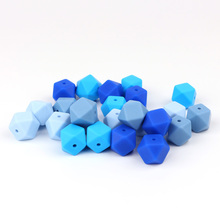 TYRY.HU 20pcs 14mm Silicone Beads For Teething Necklace Baby Teething Toys Pacif