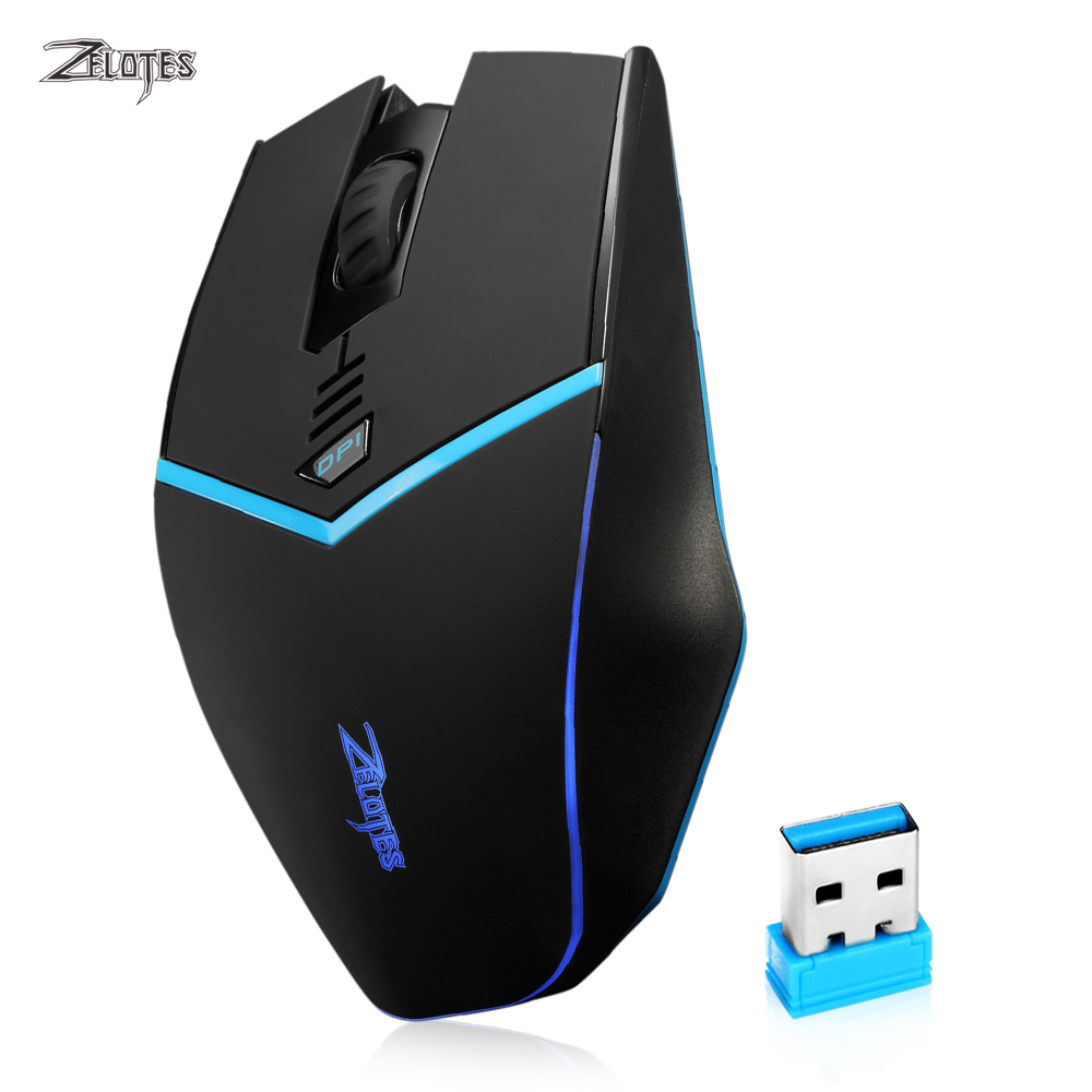 ZELOTES F12 Wireless Gaming Mouse 2400DPI with LED Light