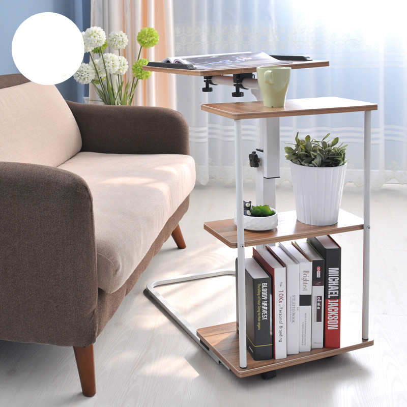 High quality liftable laptop desk Modern minimalist bedside table with small table Folding mobile bedside table corner table. stainless steel sink drain rack