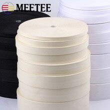 90Meters 10/15/20/25/30/35/40/50mm Cotton Webbings High Tenacity Bag Belt Lable Ribbons Sewing Tape Bias Binding DIY Crafts