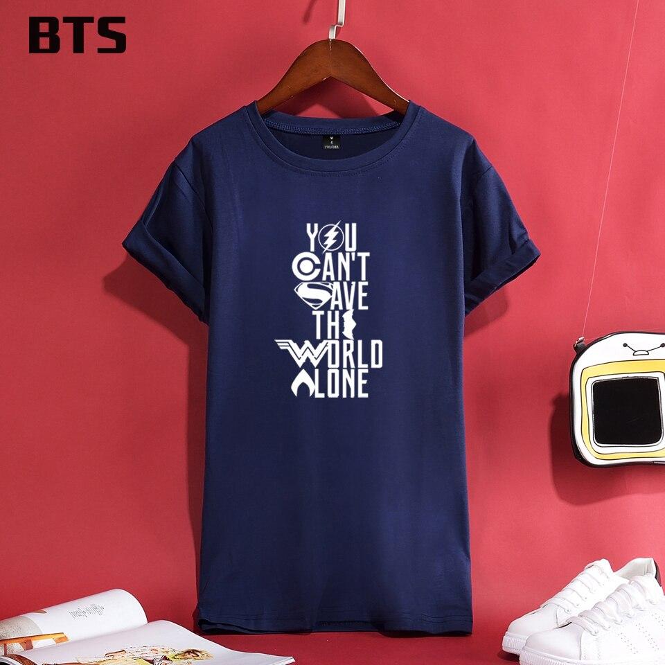 Bts justice league t shirt women plus size 4xl design short sleeve casual  tops comfortable tracksuit cute tee shirt women cotton dc6263733426