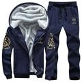 Mens Tracksuit Winter Brand Thick Soft Warm Sweatshirt Men Thrasher Set Casual Sporting Hoodies Jogger Jackets+Pants Suits 4XL