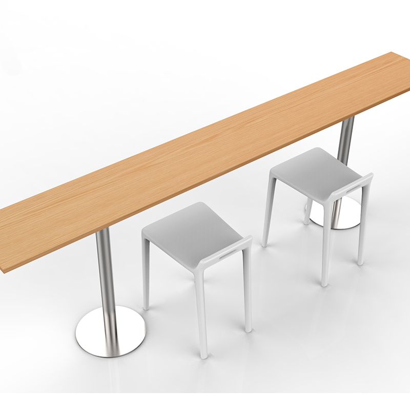 Convenient Store Fixtures Coffee Store Desk Board Table Chairs Set Chatting Drink Leisure Bar Store Furniture  Assembly