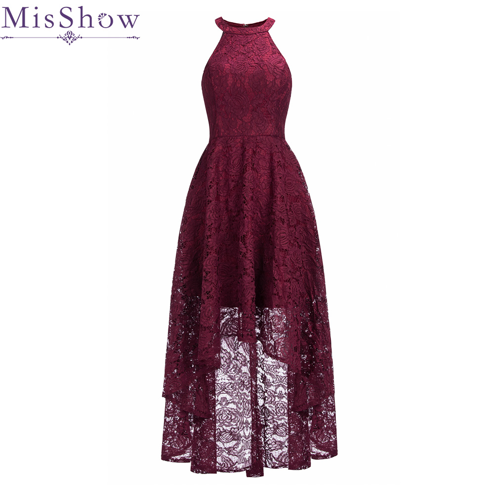Burgundy   Cocktail     Dresses   2019 Top Selling Lace The Banquet High/Low Casual Short Party   Dress   Formal Prom Gowns Robe de   Cocktail