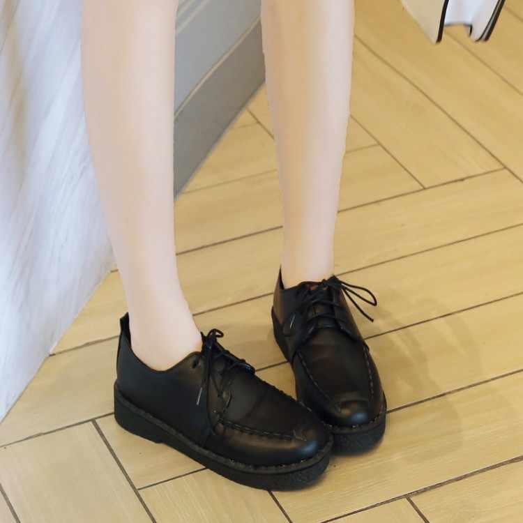 Büyük Boy 11 12 13 14 platform topuklar kadınlar ayakkabı kadın pompaları bayanlar Derin oturmalı strap-on rahat spor yumuşak taban tek ayakkabı