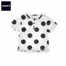 Mayas/камуфляжные летние детские топы, модные футболки в горошек для девочек, хлопковая одежда для семьи, одинаковые рубашки, бесплатная доставка, 81125
