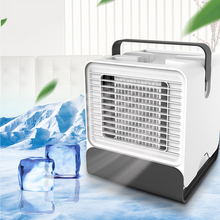 Mini USB Portable Air Conditioner Arctic Air Cooler Humidifier Purifier 2 Colors LED Light Desktop Air Cooling Fan