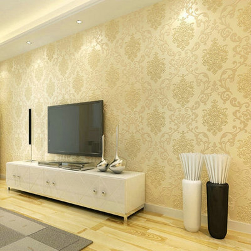 Self adhesive wallpaper Popular European Damask style wallpapers Home Decor film wall paper DIY 3D roll wallpaper 0.53 * 5 meter 3d european style home decor wall sticker