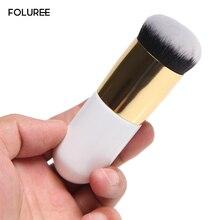 Фотография FOLUREE Professional Chubby Pier Foundation Brush Flat Portable BB Flat Cream Makeup Brushes Cosmetic Tool