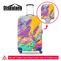 Accesorios de viaje dispalang pintura 3d equipaje maleta trolley case cubierta protectora a prueba de polvo impermeable estiramiento elástico cubre
