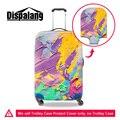Dispalang путешествия аксессуары 3D paint багаж чемодан защитная крышка водонепроницаемый пыленепроницаемый стрейч упругой троллейбус случае охватывает