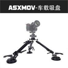 Alumínio Janela Do Carro Ventosa Estabilizador De Vídeo portátil câmera tripé para gopro camera mount suporte de tripé para Sony DSLR