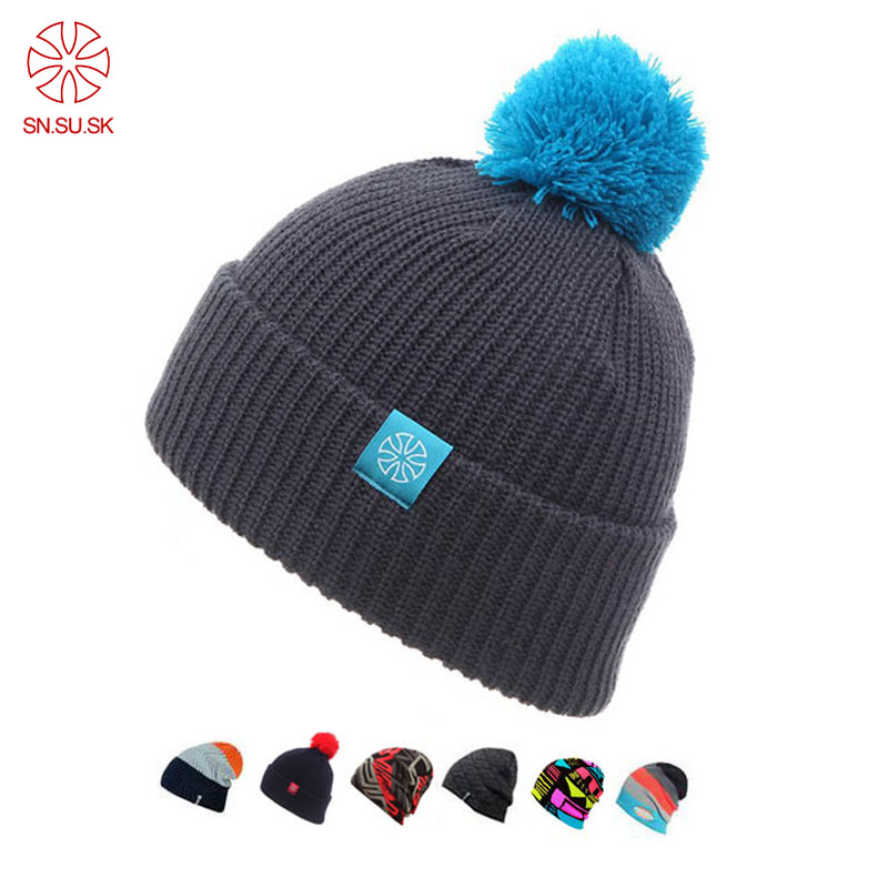 Зимние вязаные шапки Touca, головные уборы для мужчин и женщин, повседневные Лыжные шапки