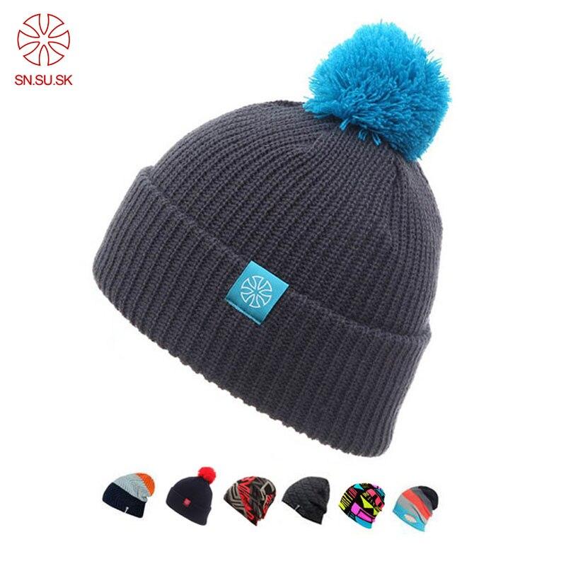 2018 Touca Chapeau D'hiver Tricoté Bonnets Chapeaux Pour Hommes Femmes casquettes Skullies Gorros Casual Sport En Plein Air Bonnet Ski Masque Beanie Cap