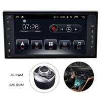 7 дюймов 2 Din Android 7,1 Системы автомобильный DVD gps аудио Радио мультимедийный плеер для Toyota 2006 2015 Универсальный