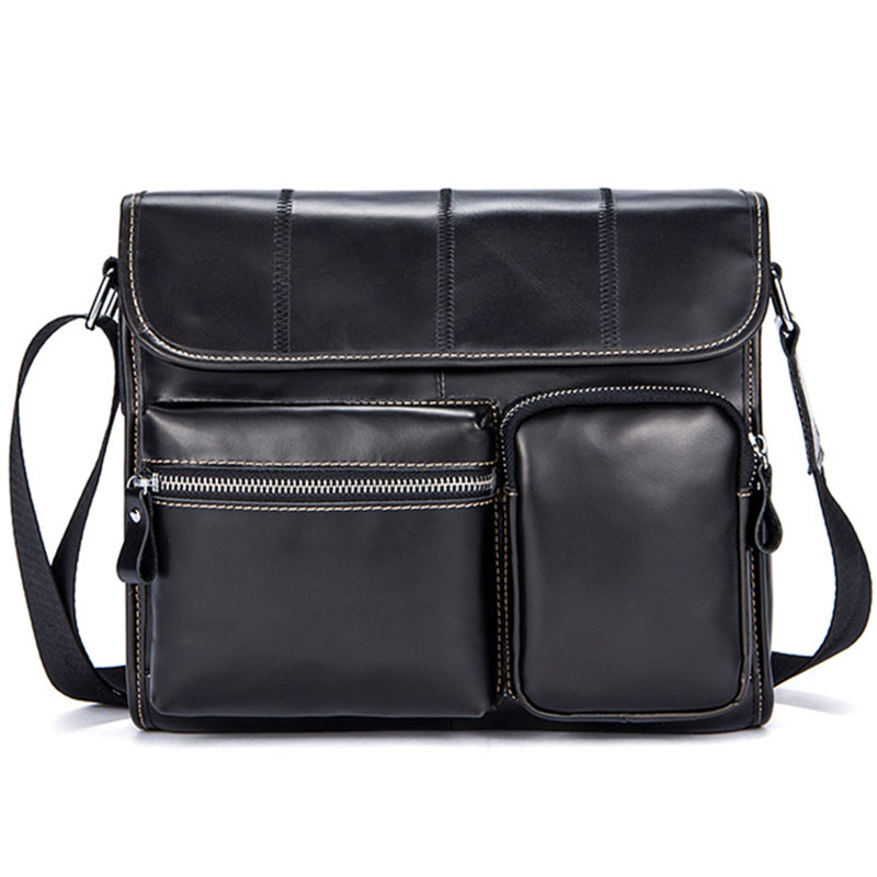 Hot Selling! New Genuine Leather Messenger bag Men's Briefcase Casual Multi-pocket Practical Cowhide Crossbody Shoulder bags