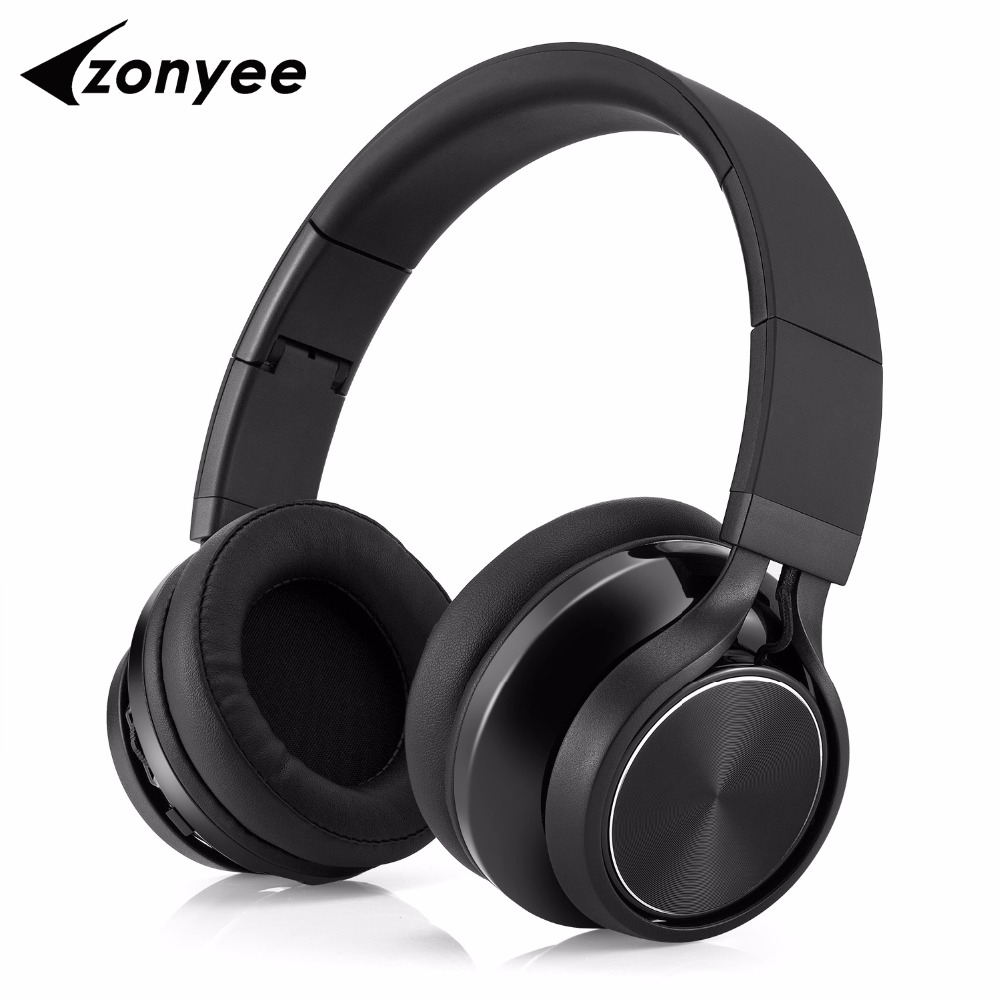 Zonyee Bluetooth headset Heavy bass wireless Stereo earphones earbuds with Mic Foldable Bluetooth headphones for Phone iPhone 100% original bluetooth headset wireless headphones with mic for blackview bv6000 earbuds