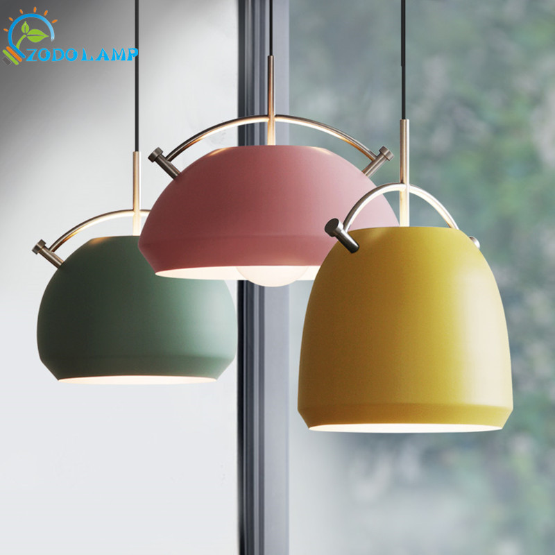 Nordic style lamps pendant lights aluminum Stainless steel lights Matte color LED lamp hanging lights Bar Restaurant lamp led pendant lamps nordic pendant lights